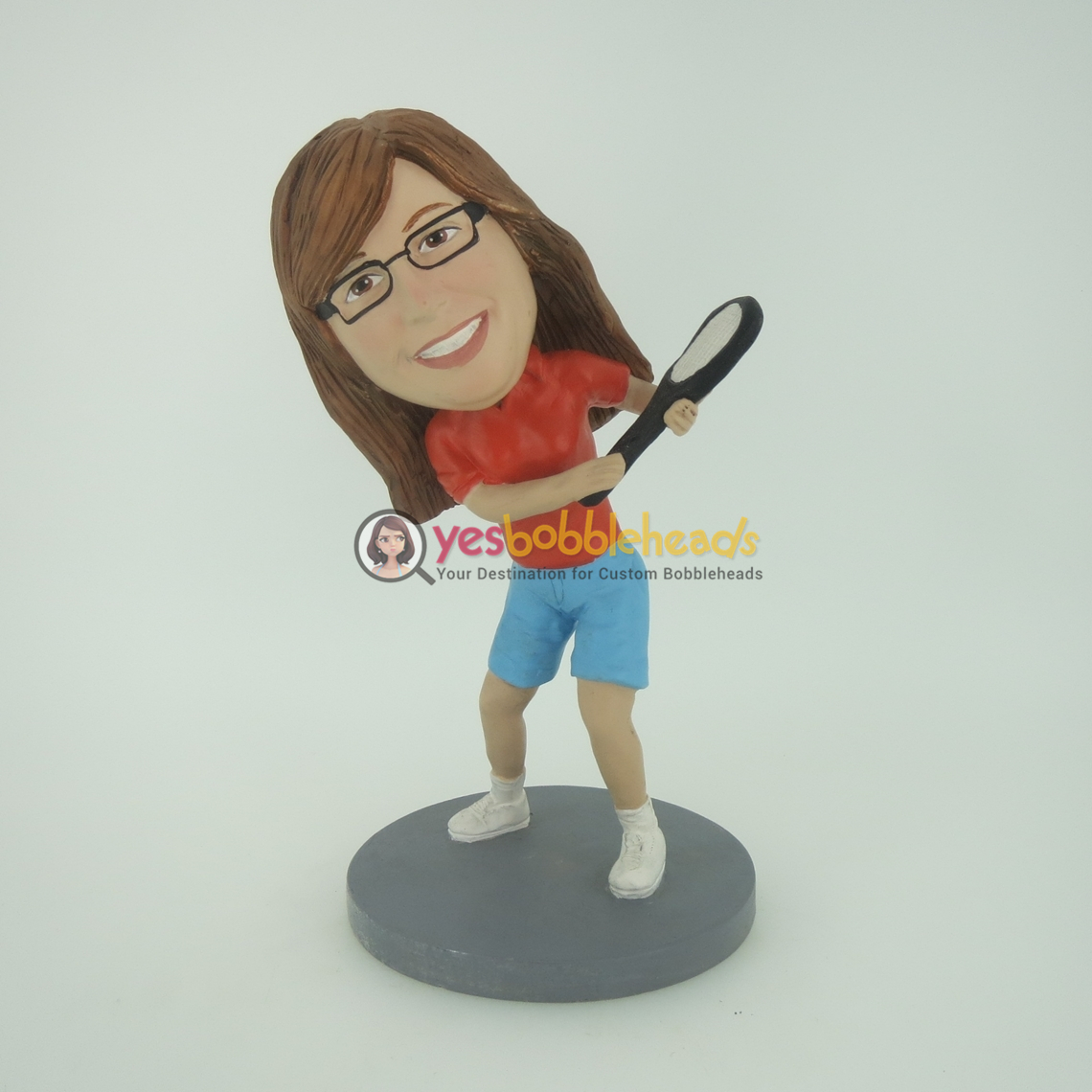 Picture of Custom Bobblehead Doll: Tennis Woman