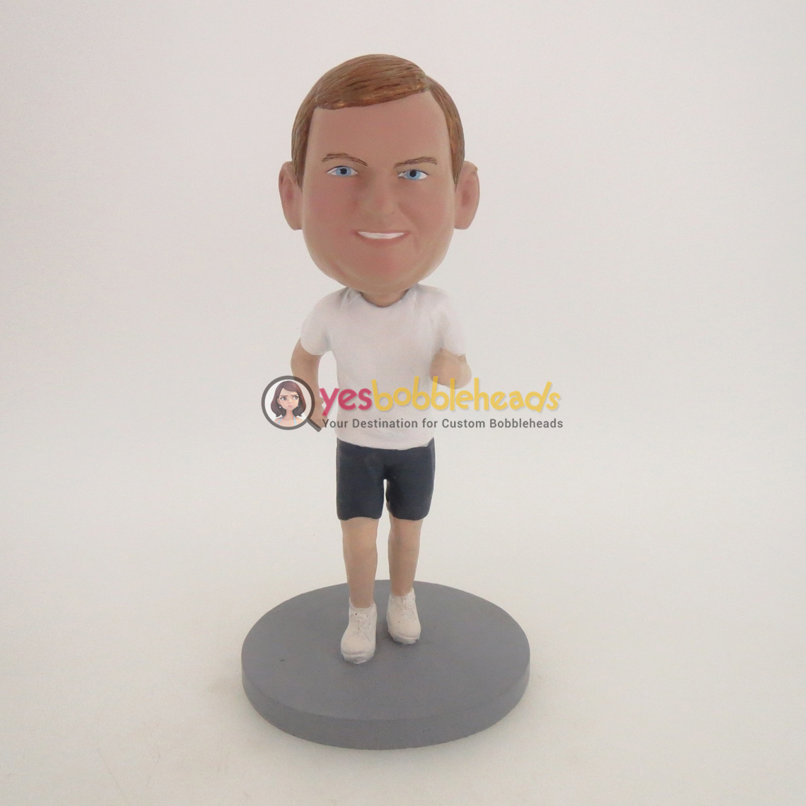 Picture of Custom Bobblehead Doll: Running Man With White Short Sleeve