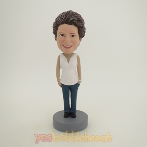 Picture of Custom Bobblehead Doll: White Clothes Mother