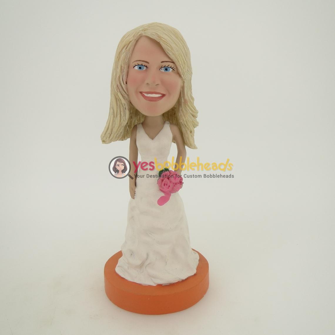 Picture of Custom Bobblehead Doll: White Wedding Dress Girl