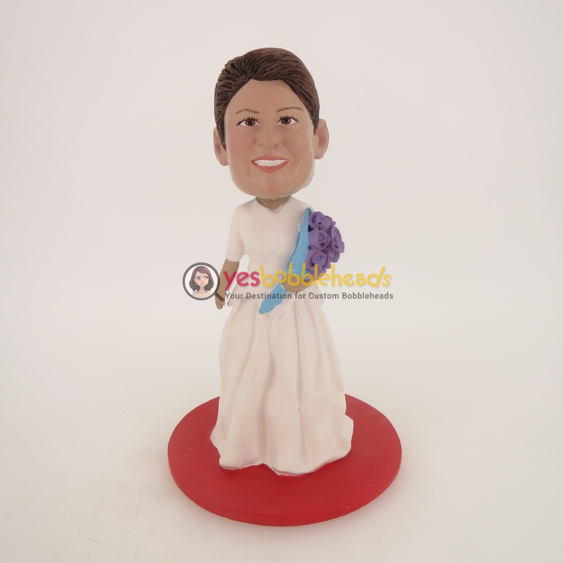 Picture of Custom Bobblehead Doll: White Wedding Dress Woman