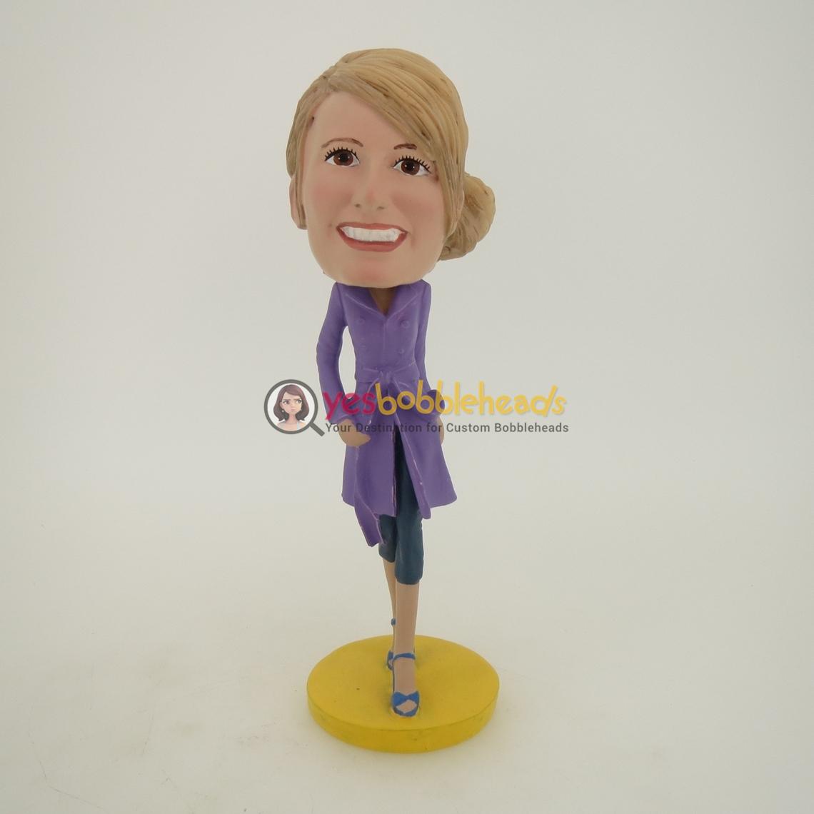 Picture of Custom Bobblehead Doll: Windbreaker Woman