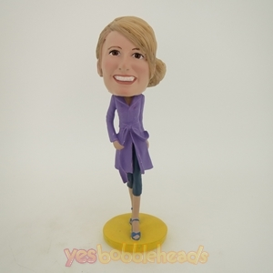 Picture of Custom Bobblehead Doll: Windbreaker Woman