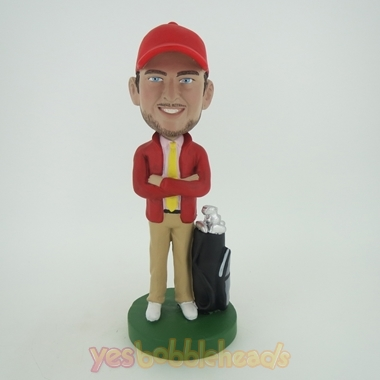 Picture of Custom Bobblehead Doll: Standing Golfer Man