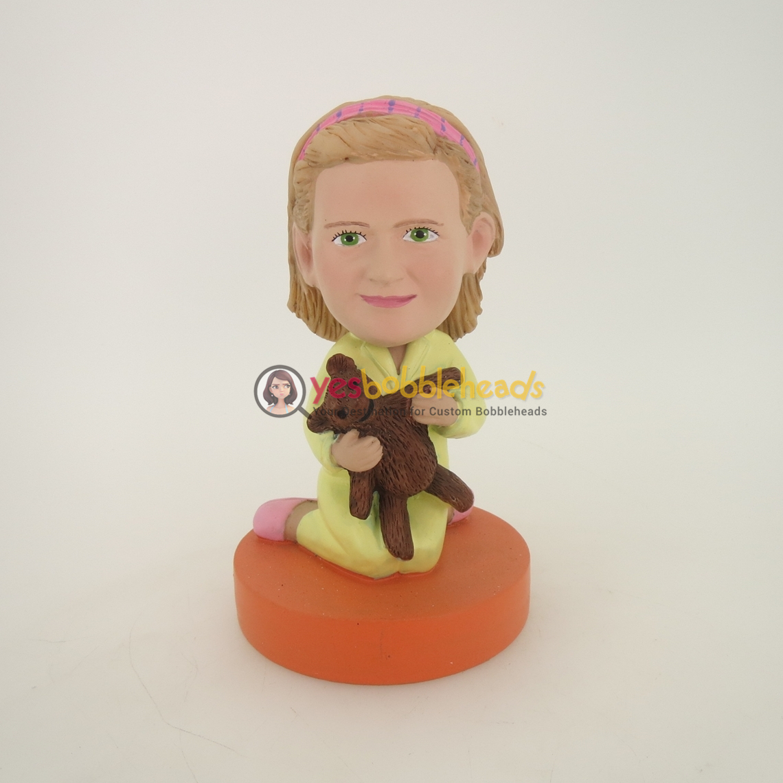 Picture of Custom Bobblehead Doll: Girl With Bear Toy