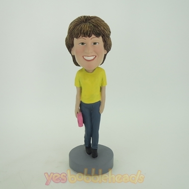 Picture of Custom Bobblehead Doll: Woman with Handbag