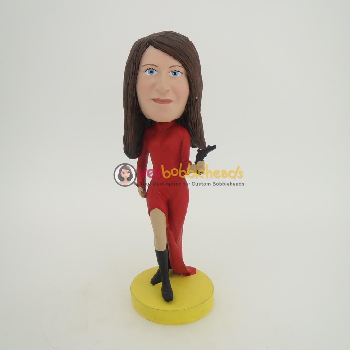 Picture of Custom Bobblehead Doll: Woman with Handgun