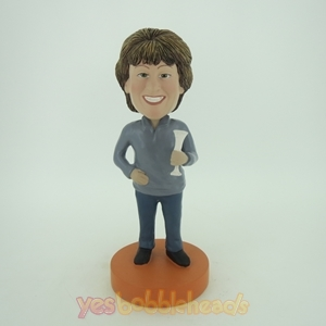 Picture of Custom Bobblehead Doll: Woman with Wine Glass