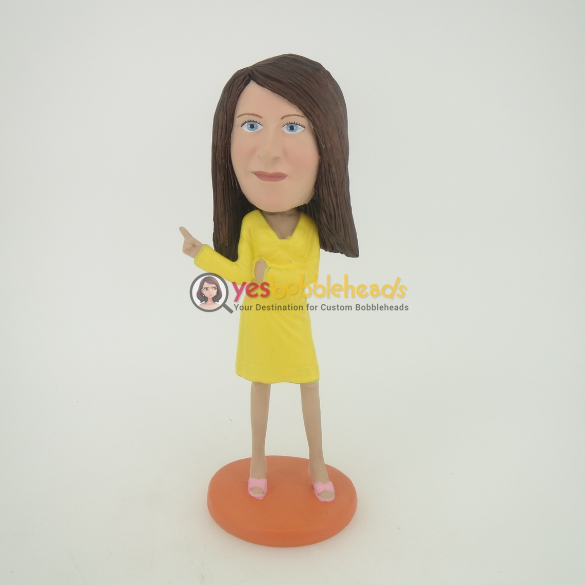 Picture of Custom Bobblehead Doll: Woman with Yellow Dress