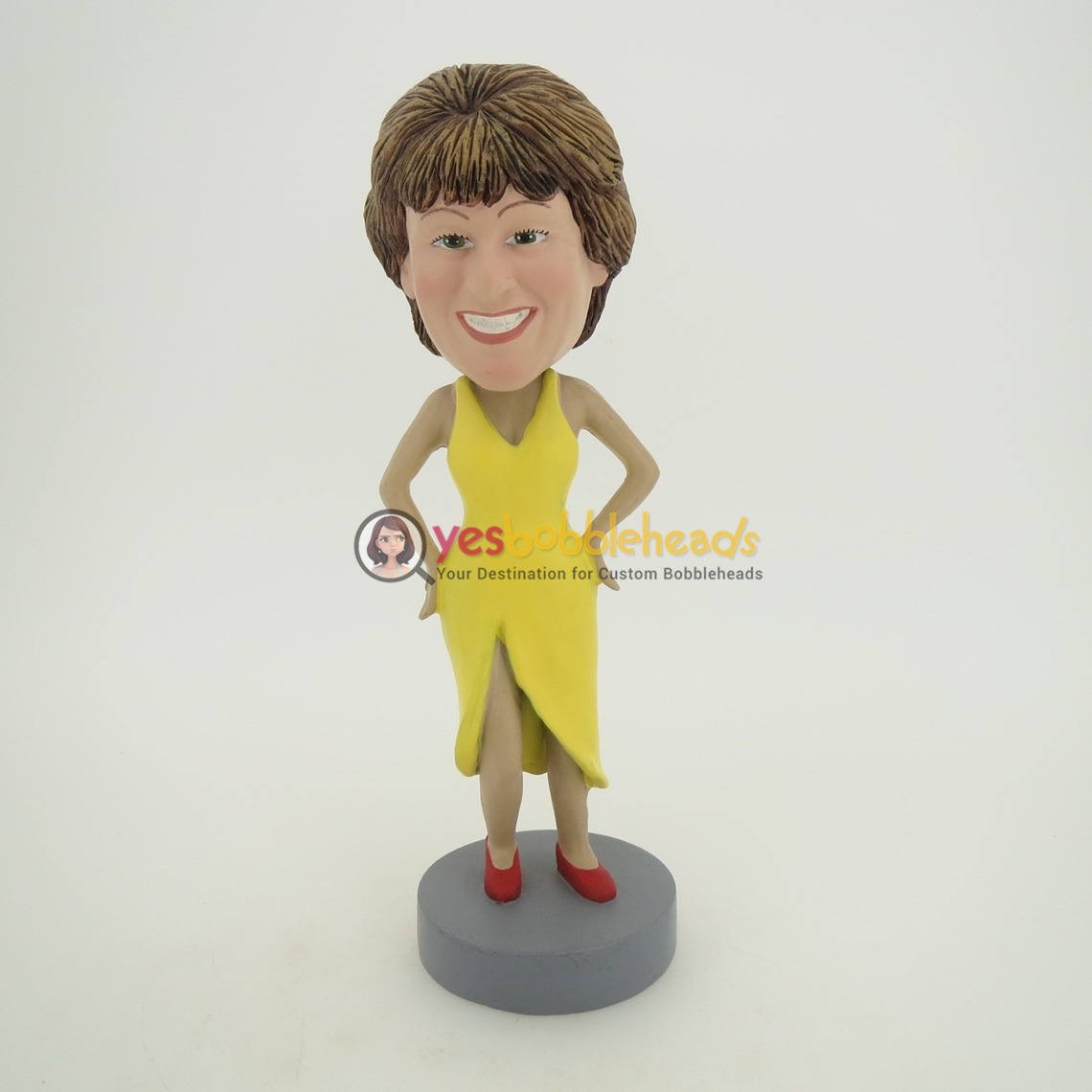 Picture of Custom Bobblehead Doll: Yellow Dress Woman