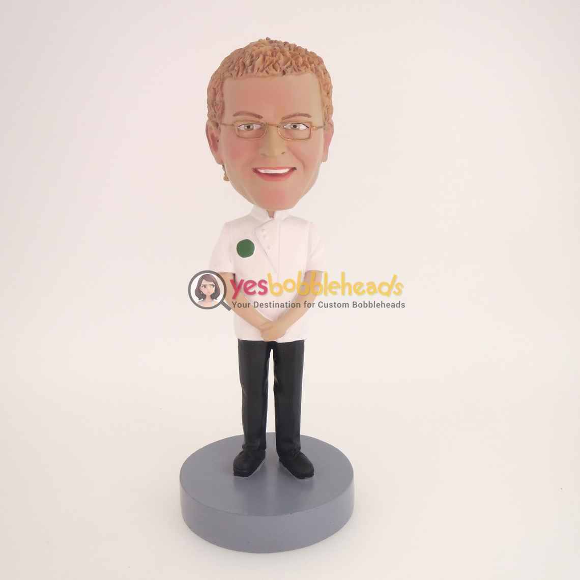 Picture of Custom Bobblehead Doll: Two Hands Before White Suit Man