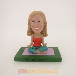 Picture of Custom Bobblehead Doll: Yoga Woman