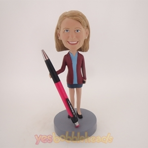 Picture of Custom Bobblehead Doll: Brown Suit Girl