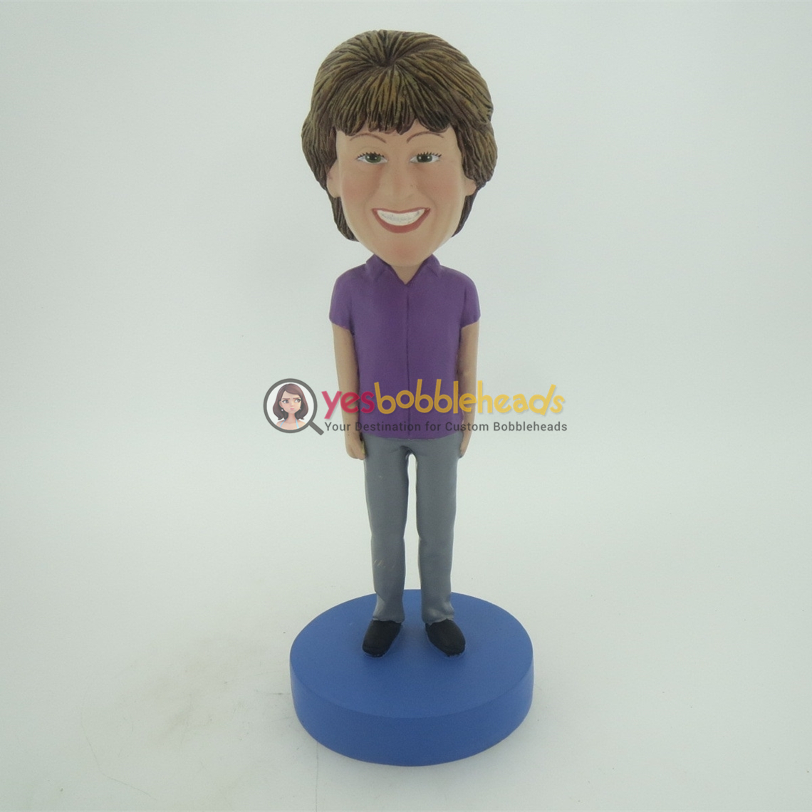 Picture of Custom Bobblehead Doll: Purple Suit Woman