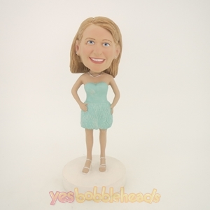 Picture of Custom Bobblehead Doll: Light Full Dress Girl