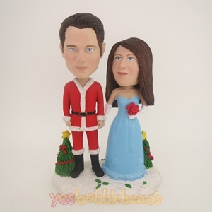 Picture of Custom Bobblehead Doll: Christmas Couple