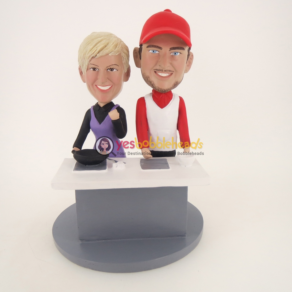 Picture of Custom Bobblehead Doll: Cooking Couple