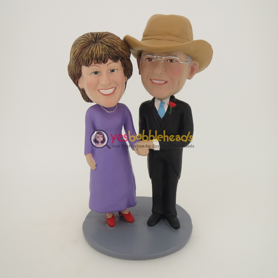 Picture of Custom Bobblehead Doll: Couple with Cowboy Hat