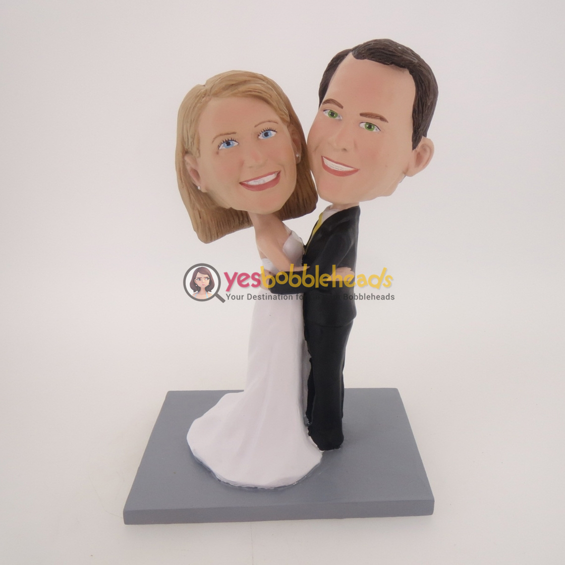Picture of Custom Bobblehead Doll: Dancing Couple Wedding