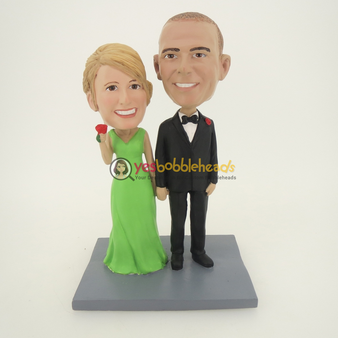 Picture of Custom Bobblehead Doll: Hand In Hand Couple