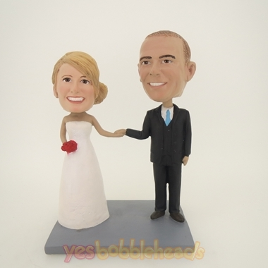 Picture of Custom Bobblehead Doll: Hand In Hand Wedding