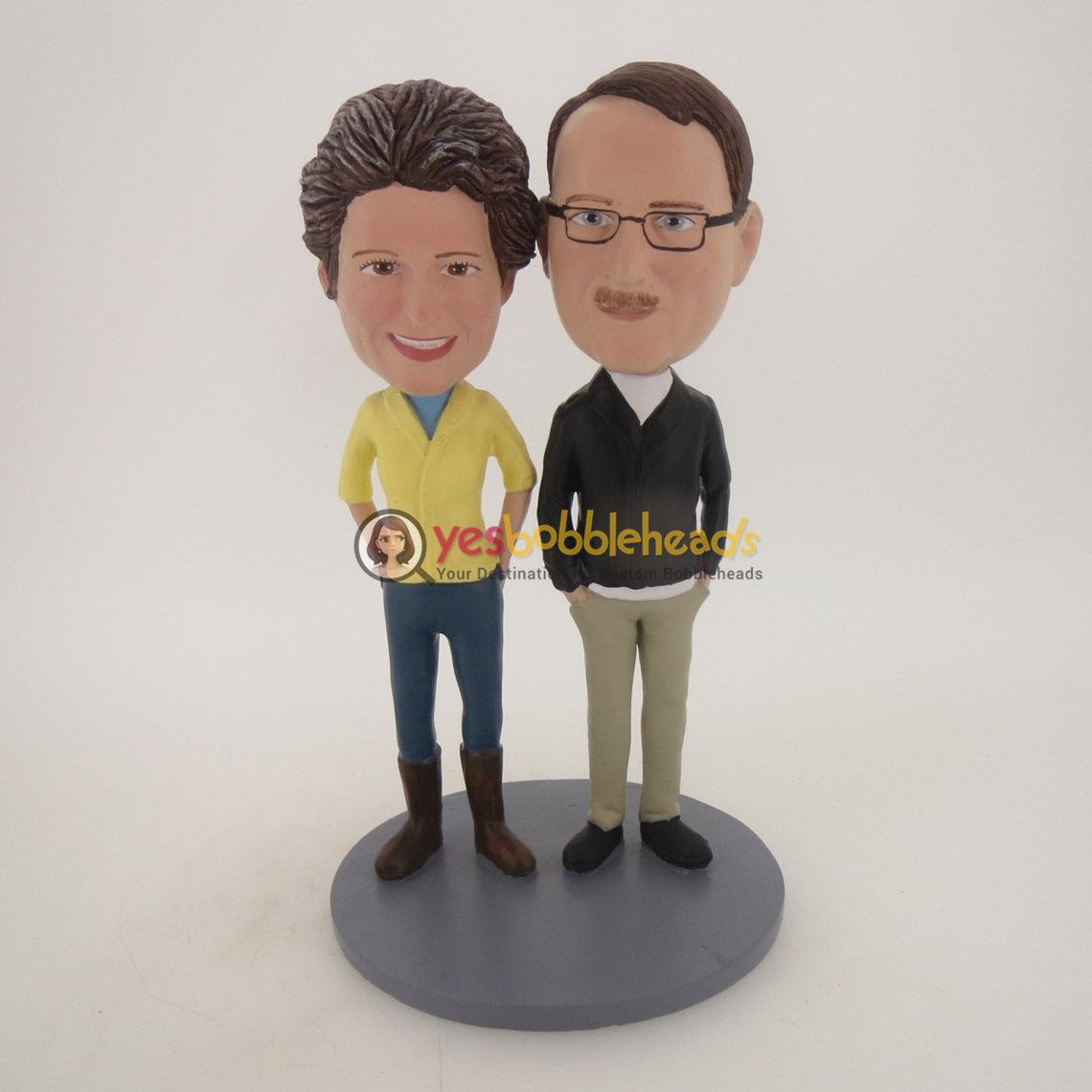 Picture of Custom Bobblehead Doll: Hands In Pocket Couple