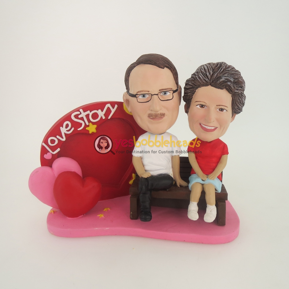 Picture of Custom Bobblehead Doll: Love Story Couple