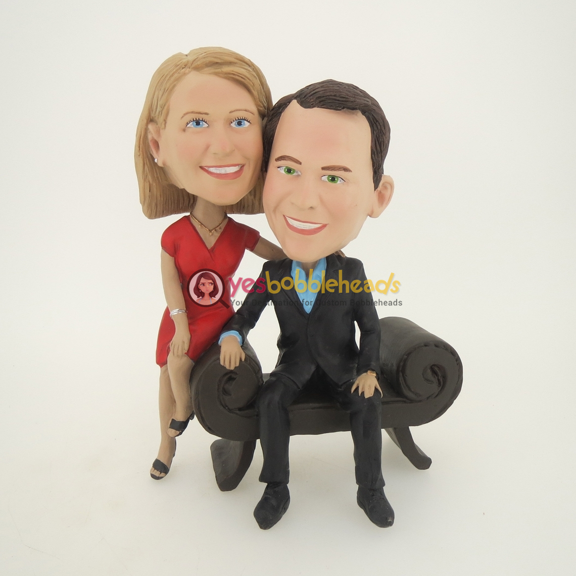 Picture of Custom Bobblehead Doll: Man in Sofa Couple