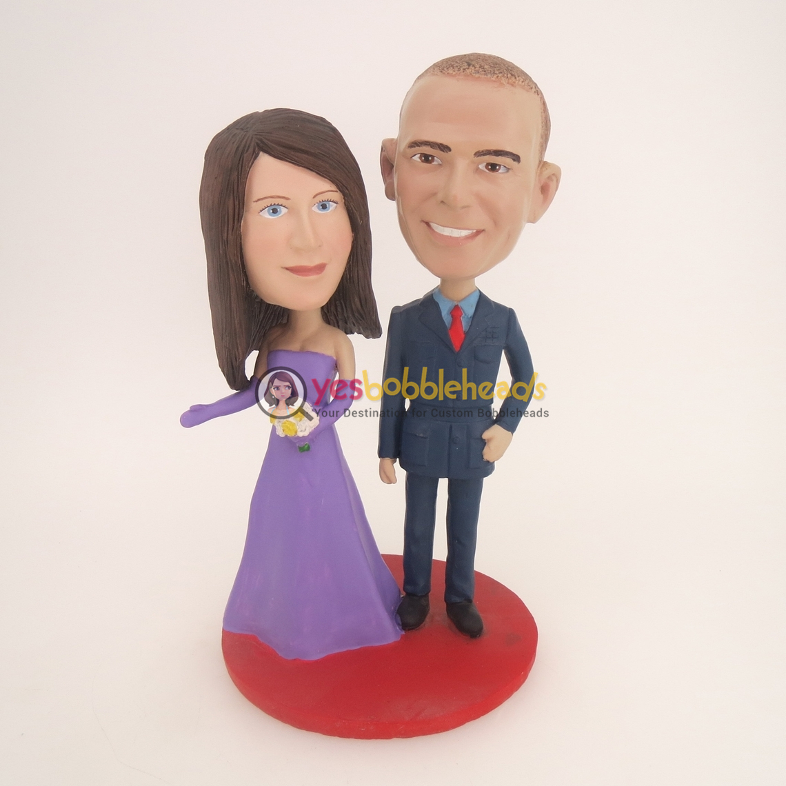 Picture of Custom Bobblehead Doll: Military Man And Bride