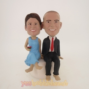Picture of Custom Bobblehead Doll: Stone Sitting Couple