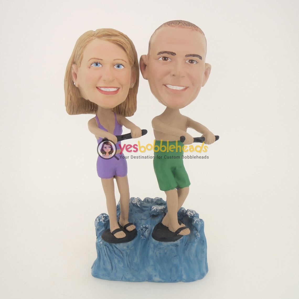 Picture of Custom Bobblehead Doll: Surfing Couple