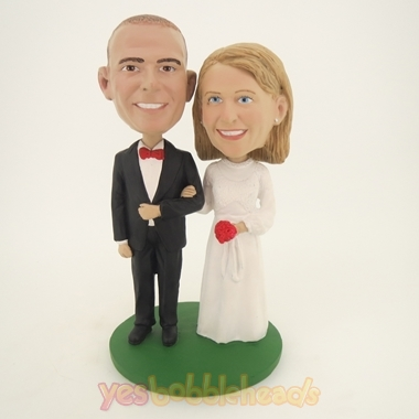 Picture of Custom Bobblehead Doll: Take My Arm Bride And Groom