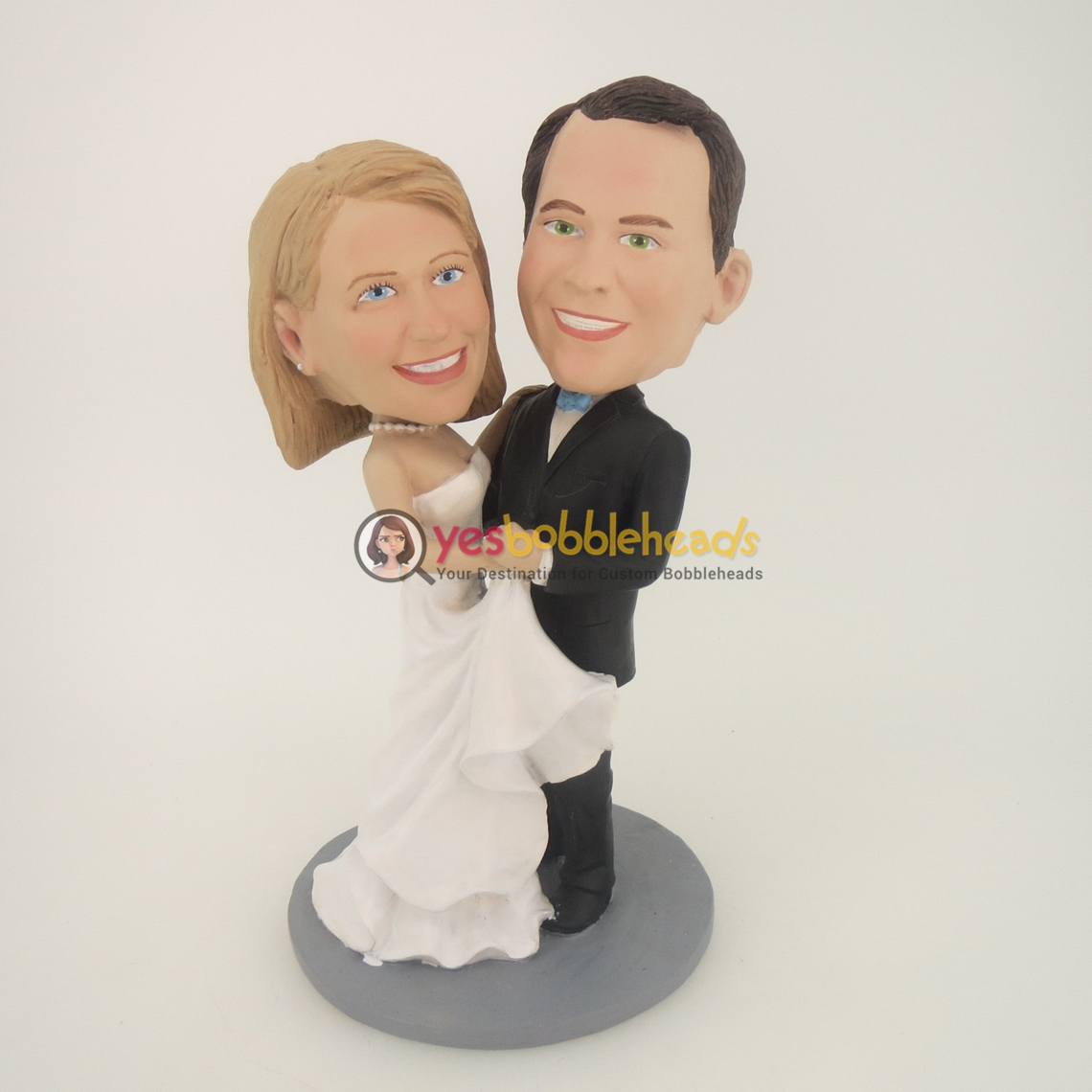 Picture of Custom Bobblehead Doll: Wedding Couple Holding Each Other