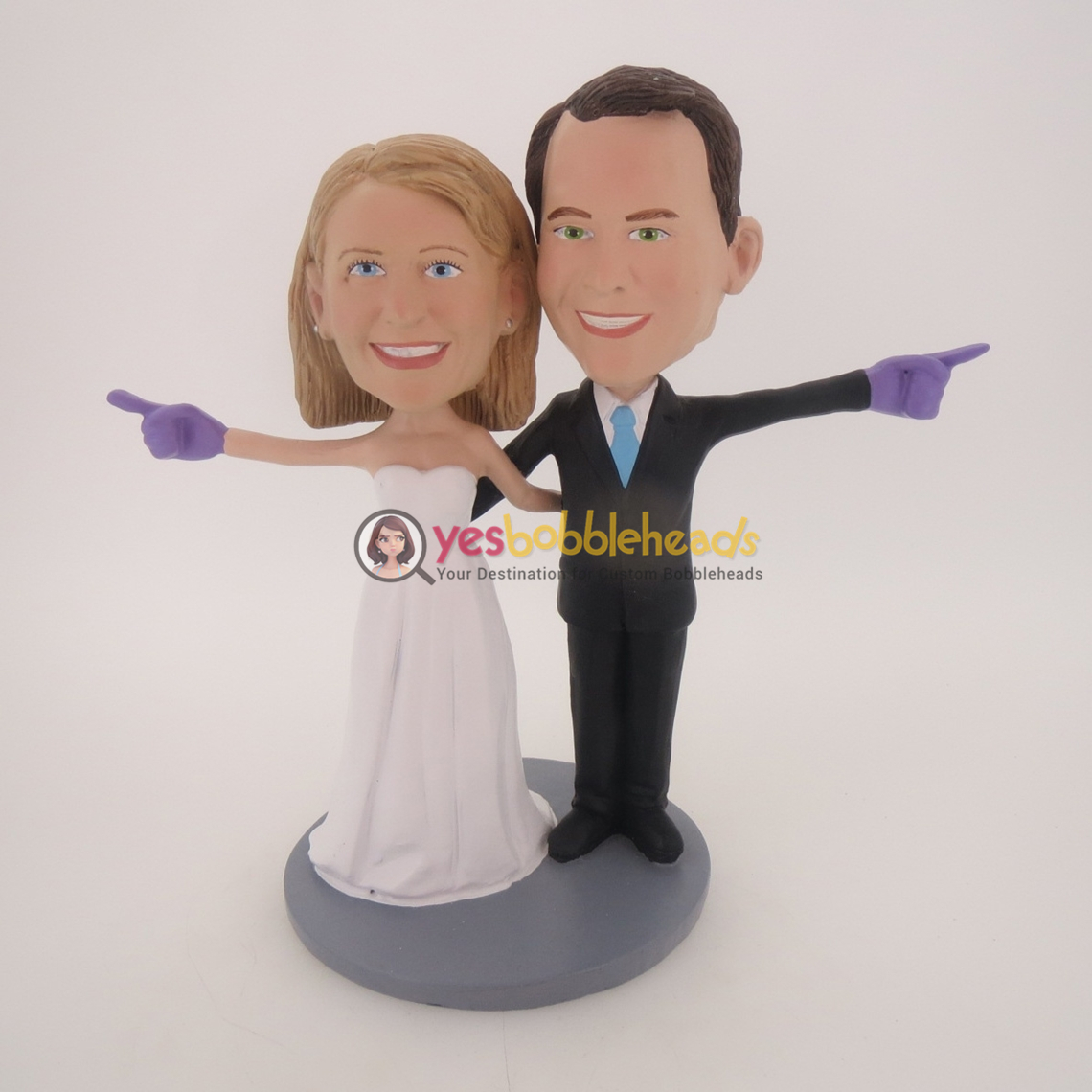 Picture of Custom Bobblehead Doll: We're Number One Wedding Couple