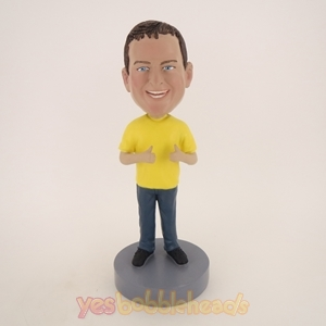 Picture of Custom Bobblehead Doll: Big Boy Thumbs Up Happily