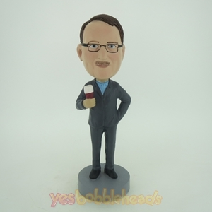 Picture of Custom Bobblehead Doll: Business Man Enjoying Beer
