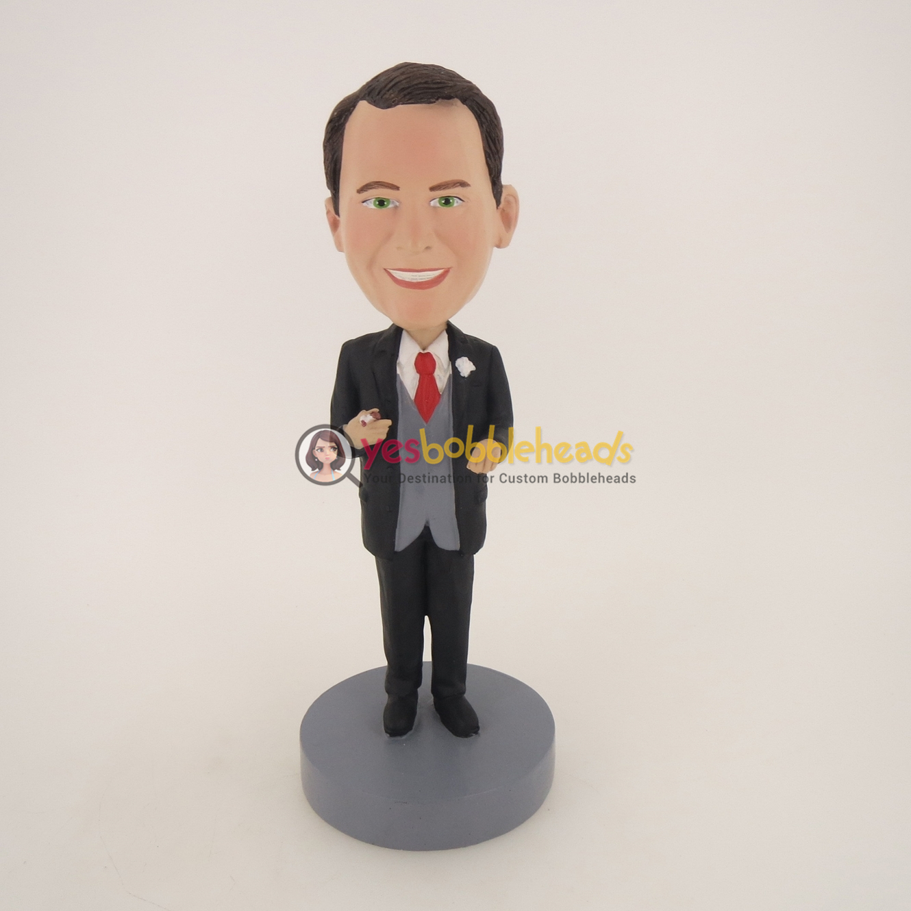 Picture of Custom Bobblehead Doll: Business Man Having Cigar