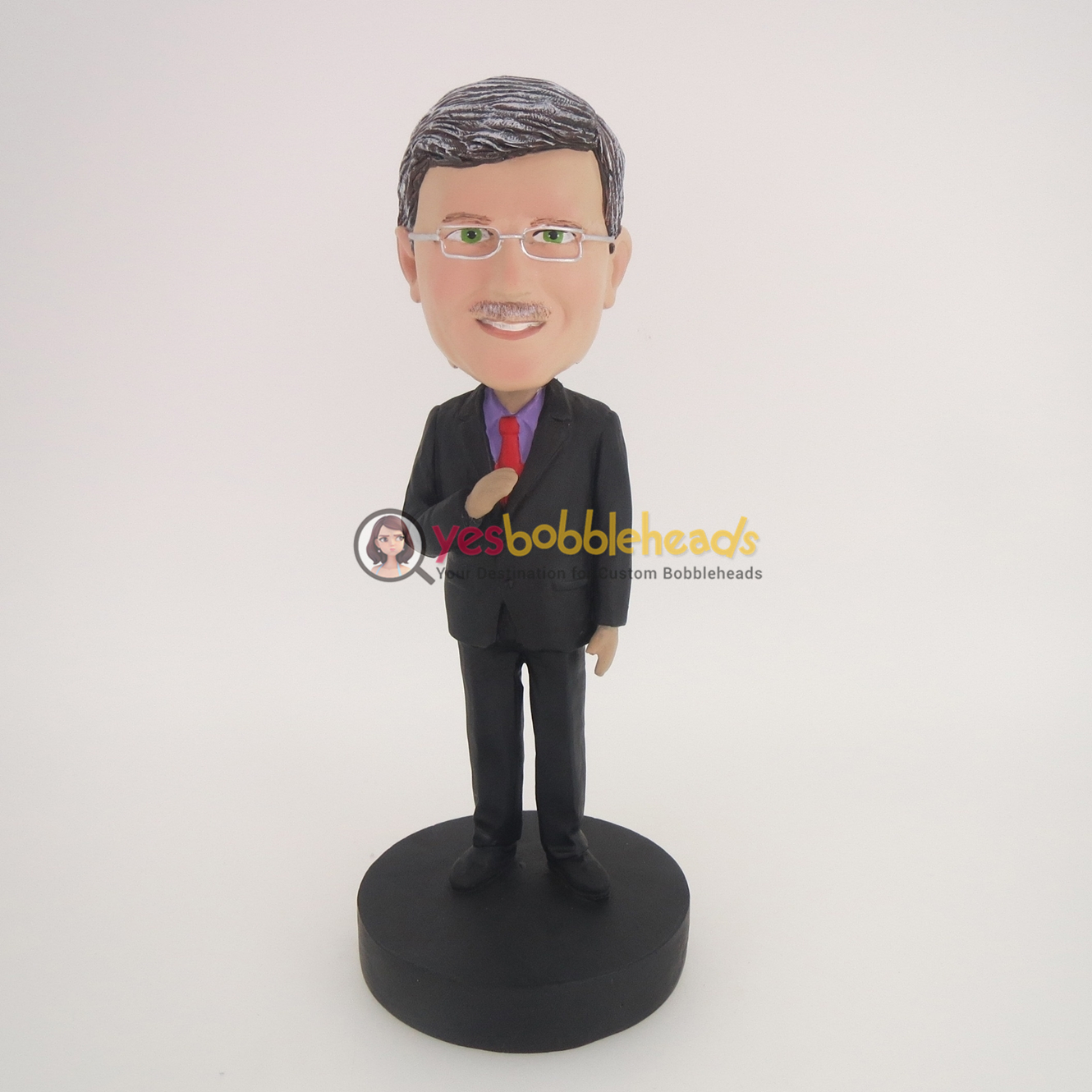 Picture of Custom Bobblehead Doll: Business Man Holding Tie