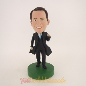 Picture of Custom Bobblehead Doll: Business Man In Black Coat