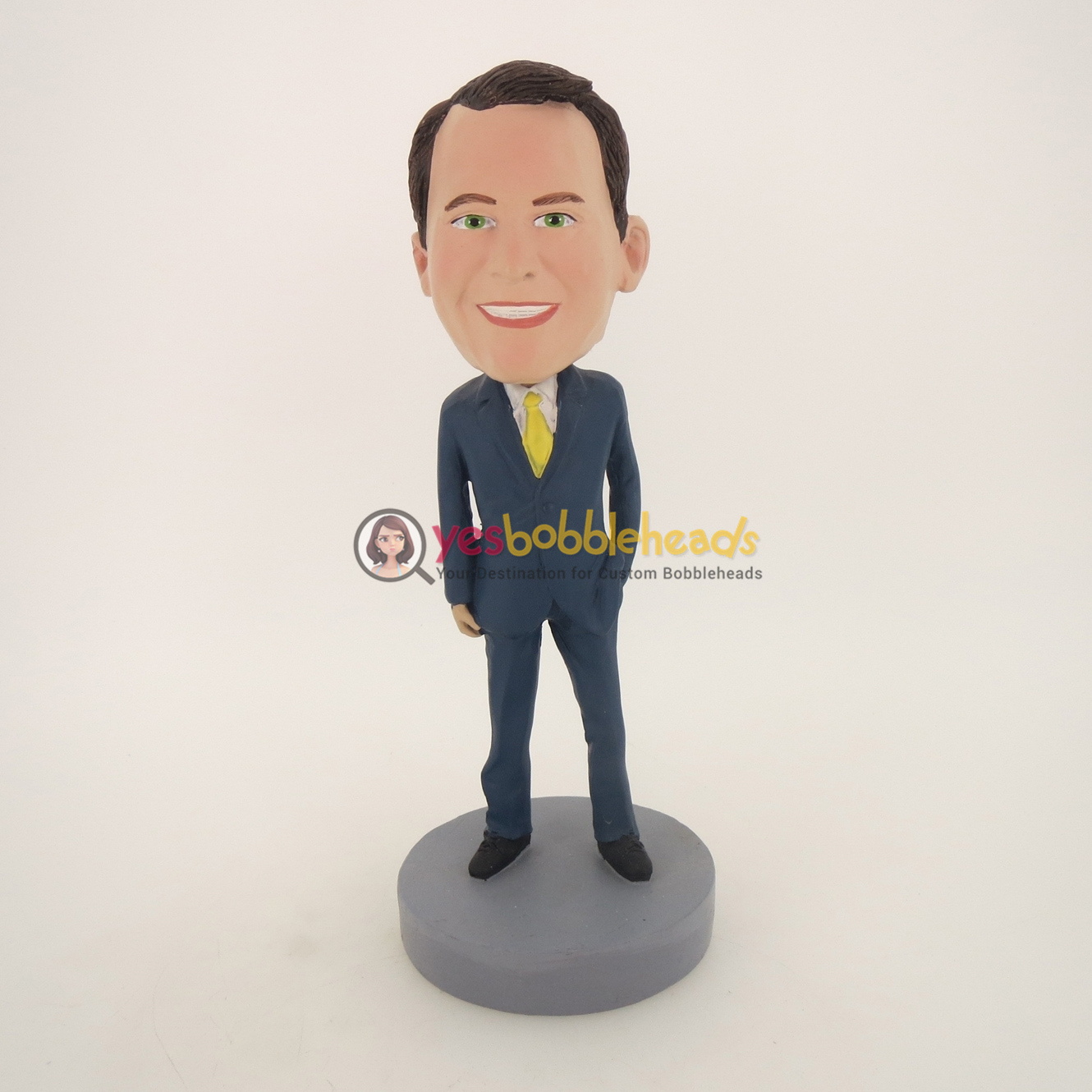 Picture of Custom Bobblehead Doll: Business Man In Blue Suit