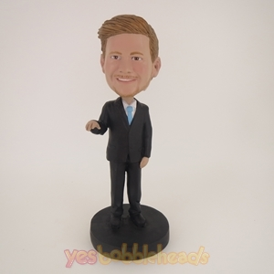 Picture of Custom Bobblehead Doll: Business Man In Pure Black