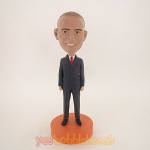 Picture of Custom Bobblehead Doll: Business Man In Suit With Tie