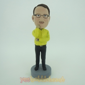 Picture of Custom Bobblehead Doll: Business Man In Thinking Style
