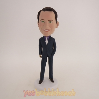 Picture of Custom Bobblehead Doll: Business Man In Very Formal Suit