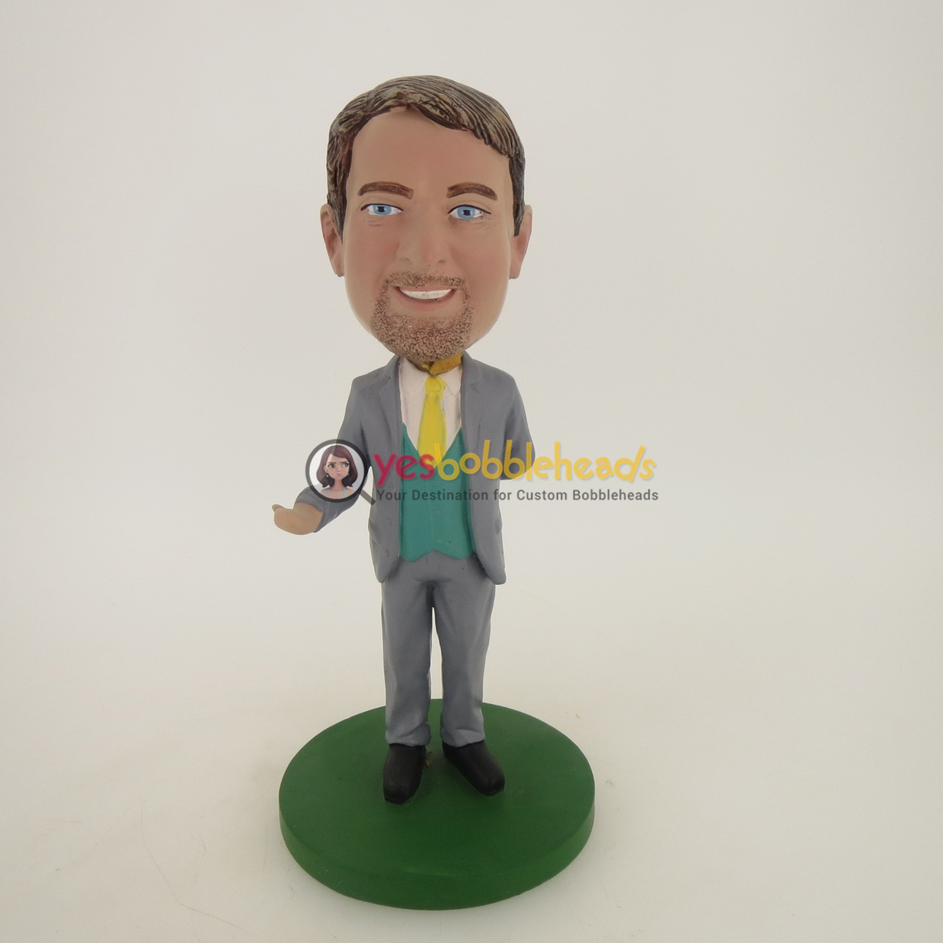 Picture of Custom Bobblehead Doll: Business Man Inviting