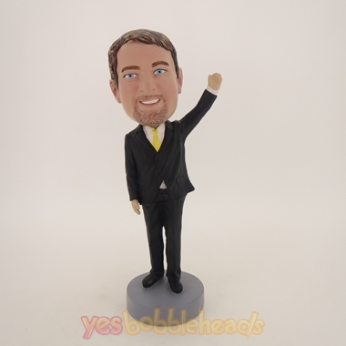 Picture of Custom Bobblehead Doll: Business Man Waving