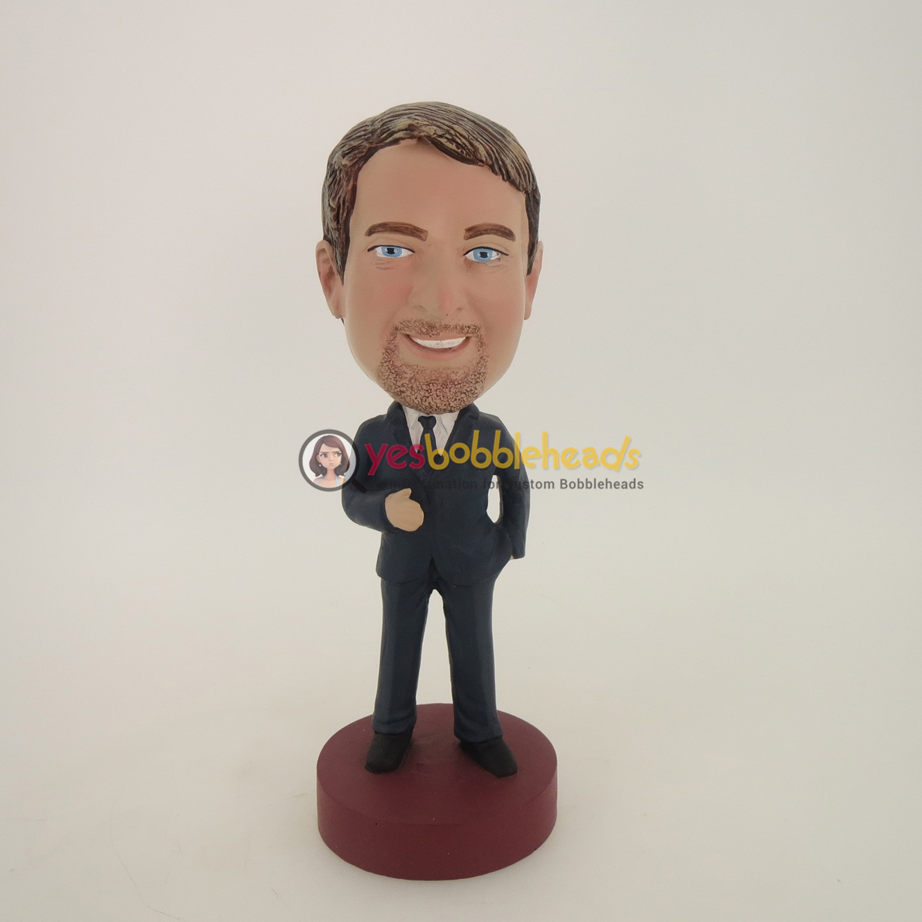 Picture of Custom Bobblehead Doll: Business Man With Beard