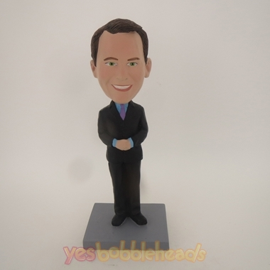 Picture of Custom Bobblehead Doll: Business Man With Hands Closed