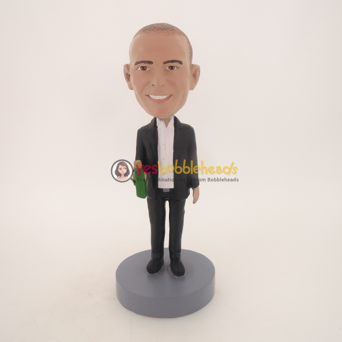 Picture of Custom Bobblehead Doll: Business Man With Wine