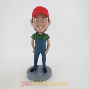 Picture of Custom Bobblehead Doll: Casual Boy In Red Hat